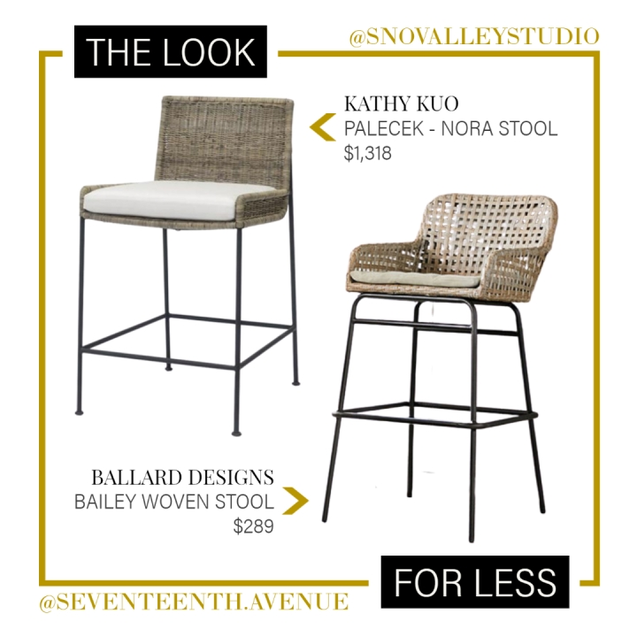 Look for Less: Coastal Counter Stool