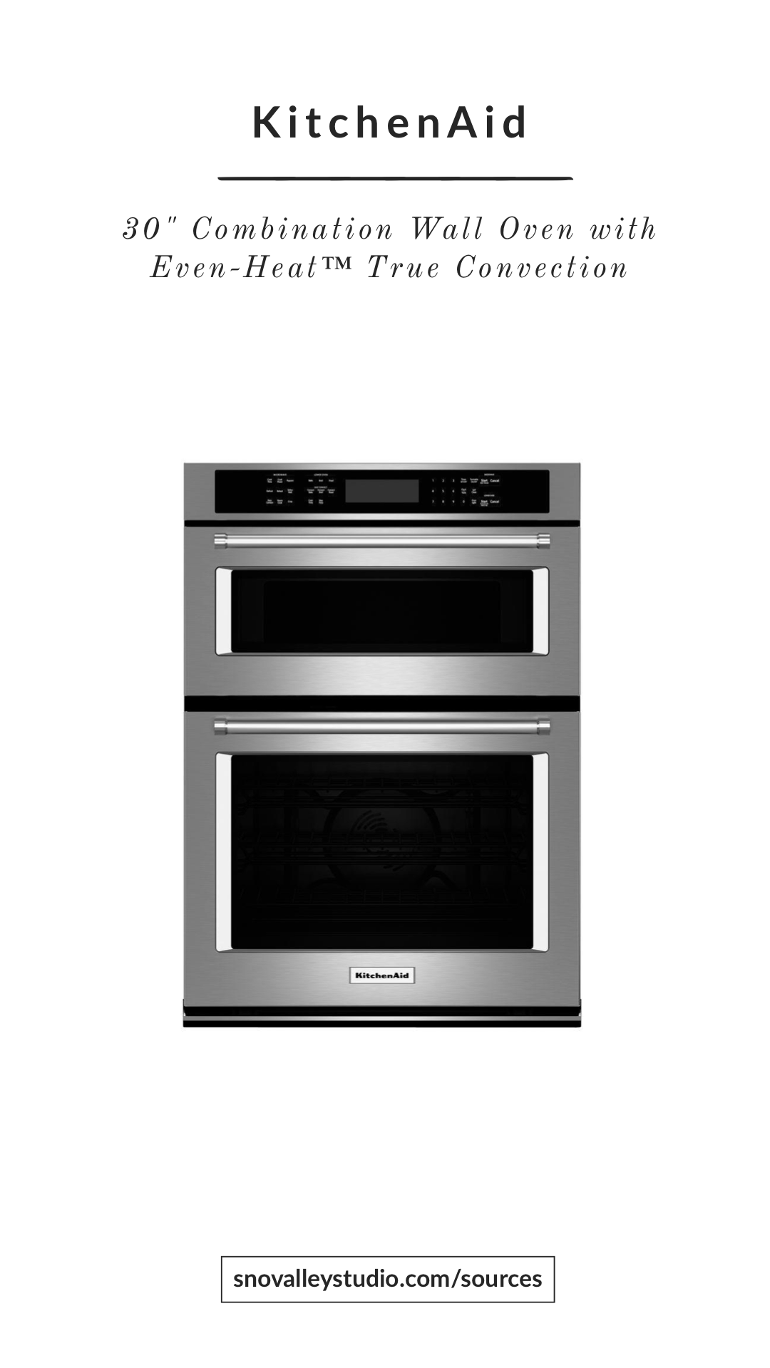 Oven/Micro Combo: KitchenAid – 30″ Combination Wall Oven with Even-Heat™ True Convection